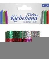 Kado plakband metallic 6 stuks trend