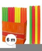 Kaftpapier folie schoolboeken neon geel 6 meter trend
