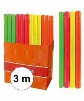 Kaftpapier folie schoolboeken neon oranje 3 meter trend