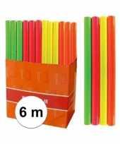 Kaftpapier folie schoolboeken neon oranje 6 meter trend