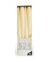 Kandelaar kaarsen creme 25 cm trend