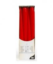 Kandelaar kaarsen rood 25 cm trend