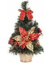 Kantoor kerstboom rode decoratie 30 cm trend