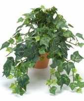 Kantoor kunstplant klimop groen in terracotta pot 30 cm trend