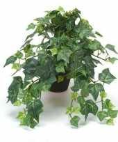 Kantoor kunstplant klimop groen in zwarte pot 30 cm trend