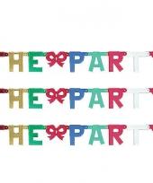Kartonnen banner letters w trend