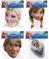 Kartonnen frozen maskers 4 stuks trend