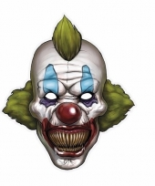 Kartonnen horror masker enge clown 30 x 35 cm trend