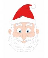 Kartonnen kerstman masker voor kinderen trend