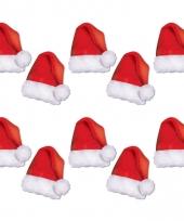 Kartonnen kerstmutsjes 10 stuks trend