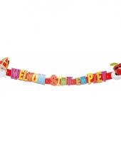Kartonnen letterslinger van sinterklaas 124 cm trend