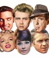 Kartonnen masker hollywood sterren trend