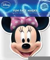 Kartonnen masker minnie mouse trend