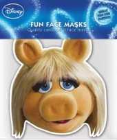 Kartonnen masker miss piggy trend