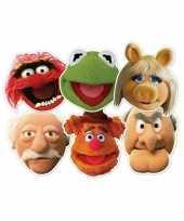 Kartonnen muppet show maskers 6 stuks trend