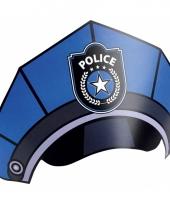 Kartonnen politie petjes acht stuks trend