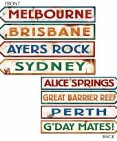 Kartonnen wegwijzers australie trend