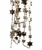 Kasjmier bruine sterren kralenslinger kerstslinger 270 cm 3 stuk trend