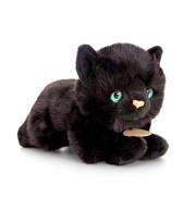Keel toys pluche katten poezen knuffel zwart 30 cm trend