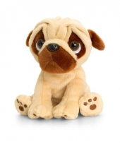 Keel toys pluche mopshond knuffel 20 cm trend