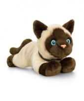 Keel toys pluche siamese katten poezen knuffel 30 cm trend