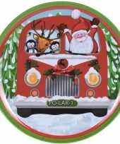 Kerst bord bus 25 cm trend