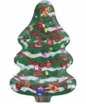 Kerst bord serveerschaal kerstboom 30 x 20 cm trend