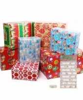 Kerst cadeaus inpakken set maat s trend