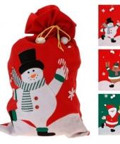 Kerst cadeautjes zak met kerstman 60 x 97 cm trend