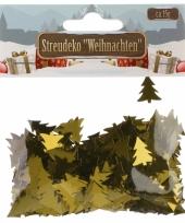 Kerst deco confetti gouden kerstboompjes glimmend 15 gram trend