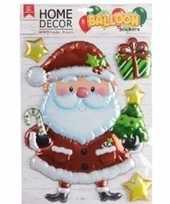 Kerst decoratie 3d raamstickers kerstman 28 x 41 cm trend