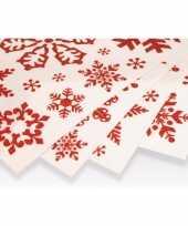 Kerst decoratie raamstickers rode sneeuwvlokken trend