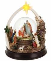 Kerst decoratie sneeuwbol 23 cm type 2 met led verlichting trend