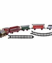 Kerst decoratie trein 6 m spoor met licht en geluid trend