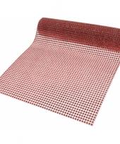 Kerst decostof rood 25 x 200 cm trend
