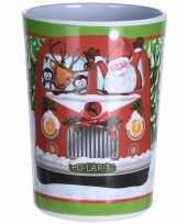 Kerst drinkbeker bus 11 cm trend