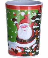 Kerst drinkbeker kerstman 11 cm trend
