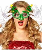 Kerst feest verkleed bril groen met kerstbomen voor volwassenen trend