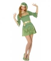Kerst groen elfen verkleedjurkje trend