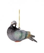 Kerst hangdecoratie duif 11 cm trend