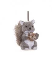Kerst hangdecoratie grijze eekhoorn 12 cm trend