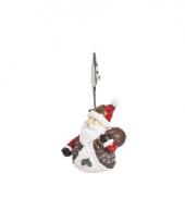 Kerst kaarthouder kerstman 11 cm type 1 trend