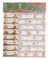 Kerst kado stickers 24 stuks trend