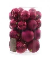 Kerst kerstballen mix roze 30 stuks trend
