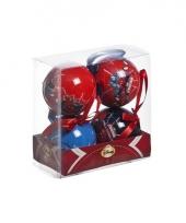 Kerst kerstballen spiderman 4 stuks trend