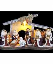 Kerst kerststal decoratie led 16 cm trend