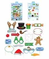 Kerst party foto props set trend