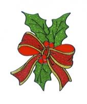 Kerst raamsticker hulstblad 18 cm trend