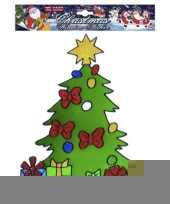 Kerst raamsticker kerstboom trend