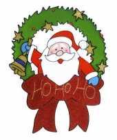 Kerst raamsticker kerstman 30 cm trend